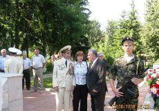 Герой той войны, водрузивший над городом знамя победы 12.08.1943 года, я и мэр города