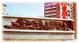 Памятник-стела посвящён подвигу Донских казаков, г.Ростов-на-Дону
