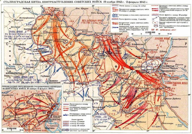 Сталинградская битва, 19.11.1942г.—02.02.1943г.