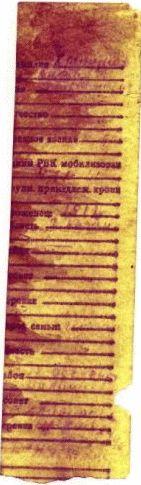 Это вид скана вкладыша медальона Хрипунова М.С. после последней обработки.